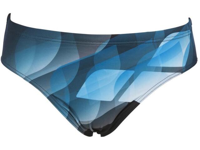 arena Mirrors Slip de bain Homme, black/turquoise
